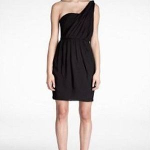 Black Halo one shoulder dress